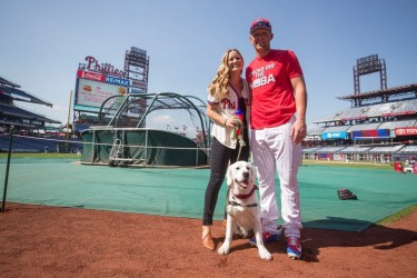 Rhys Hoskins and his dog Rookie